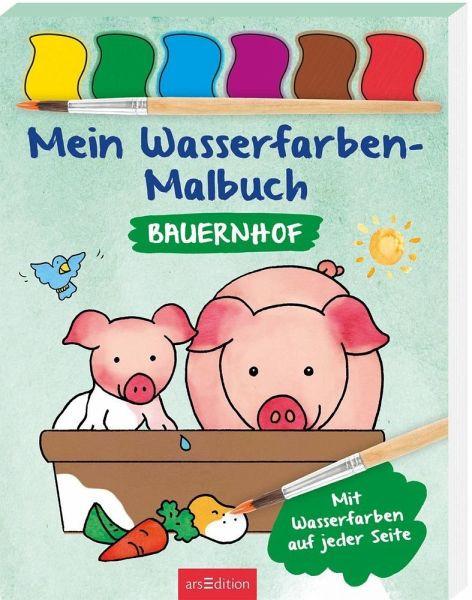 Mein Wasserfarben-Malbuch Bauernhof
