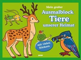 Ausmalblock Tiere unserer Heimat
